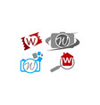 logotype w modern template set vector image vector image