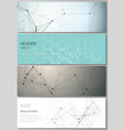 minimalistic editable layout of headers vector image vector image