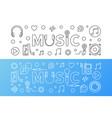 music banners in thin line style vector image