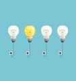 new idea background lamp bulbs light vector image vector image