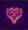 owl mask abstract vector image vector image