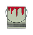 paint bucket color repair symbol vector image