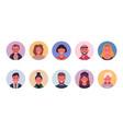 people avatar bundle set user portraits vector image