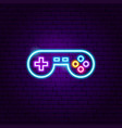 play game neon sign vector image vector image