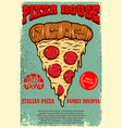 poster template pizza house italian pizza vector image vector image