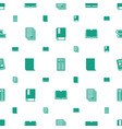 publication icons pattern seamless white vector image vector image
