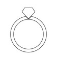ring black color icon vector image