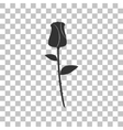 Rose sign Dark gray icon on vector image vector image
