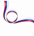 russian wavy flag background vector image vector image