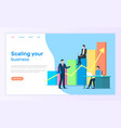 scaling business landing web page graphic growth vector image