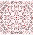Seamless ornate pattern with hearts vector image vector image