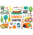 set isolated summer camping elements part 2 vector image