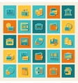 Set of business and banking icons vector image