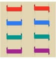 Set of colored bookmarks vector image vector image