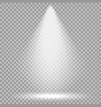 spotlight bright light beam transparent vector image