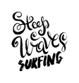 steep waves surfing vector image vector image