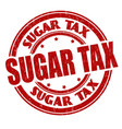 sugar tax grunge rubber stamp vector image vector image