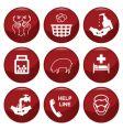 swine flue icons vector image