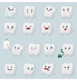 Teeth cartoons set vector image