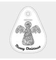 Toys on christmas tree - angel Christmas vector image