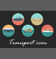 transport retro icon vector image