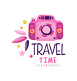 travel time logo design summer vacation weekend vector image vector image