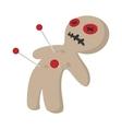 Voodoo doll cartoon icon vector image vector image