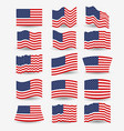 white background of colorful set flags united vector image