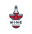 wine quality label design element for menu vector image vector image