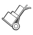 isolated trolley icon vector image