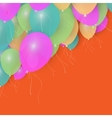 Party Balloons Background for your Text Stock vector image