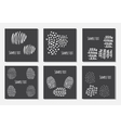Set of 6 creative covers or universal cards vector image