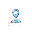 concept gps icon thin line flat design element vector image
