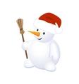 Christmas Cheerful Snowman vector image