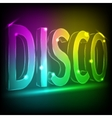 Disco Abstract Colorful Lines on Black Background vector image