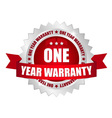 1 year warranty button vector image