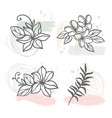abstract line flowers floral clipart vector image