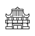 asian castle line icon concept sign outline vector image