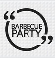 barbecue party lettering design vector image vector image