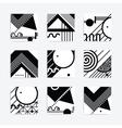Black and white geometric design vector image