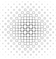 black and white square pattern - abstract vector image vector image