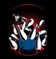 bowling-man vector image vector image