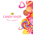 candy shop2 vector image vector image