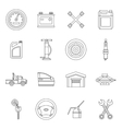 Car maintenance and repair icons set outline style vector image vector image