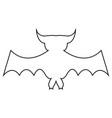 cartoon bat on white background vector image vector image