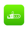 chainsaw icon digital green vector image vector image