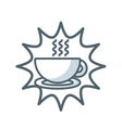 coffee cup flat icon vector image vector image