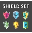 Colorful Shields vector image vector image