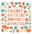 decor alphabet color autumn color vector image vector image