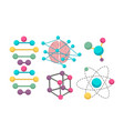 Dna molecule icons for science in molecular